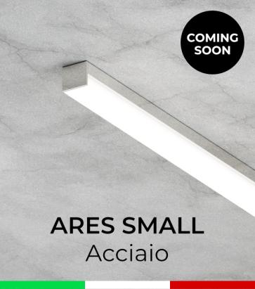 """Profilo in Alluminio """"Ares Small"""" per Strisce LED - Acciaio Lucido"""