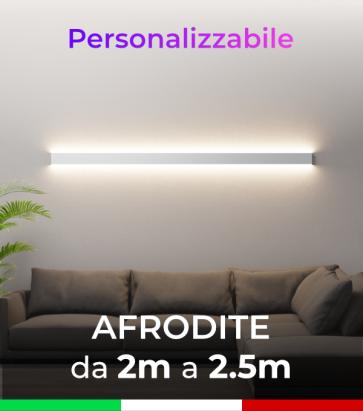 Lampada LED da parete Afrodite - Doppia Emissione di Luce - Da 200cm a 250cm - Personalizzabile - Dimmerabile