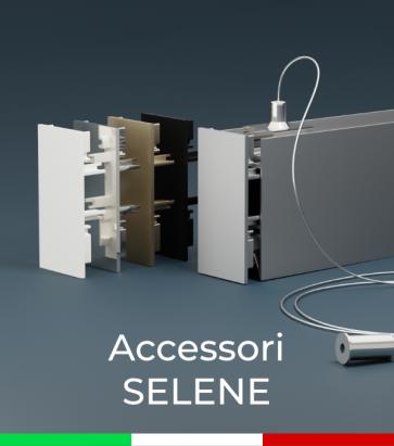 """Accessori per Profilo in Alluminio da Sospensione """"Selene"""""""