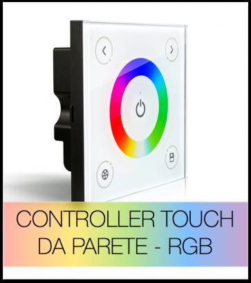 Controller RGB PWM touch da parete per Strisce LED