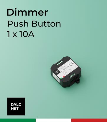 Dimmer DALCNET DLC1224-1CV - 12V/24V  versione Push Button