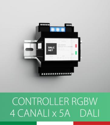 Dimmer DALCNET PRO DLD1248-4CV-DALI  - 12V/24V/48V - Multifunzione - Barra DIN