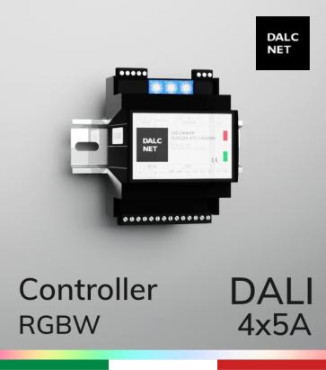Controller DALCNET PRO DLD1248-4CV-DALI  - 12V/24V/48V - Multifunzione - Barra DIN
