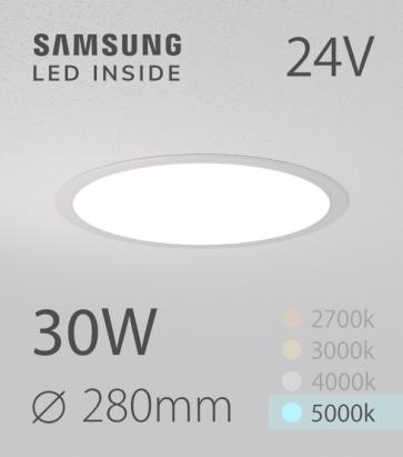Faretto da Incasso Rotondo Slim 30W BIANCO FREDDO - Downlight - LED Samsung