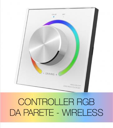 Controller RGB da Parete con Rotella - Wireless - Per strisce LED - SUPER OFFERTA