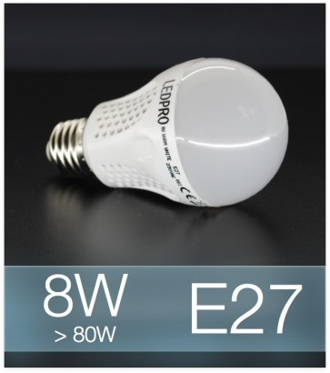 Lampadina LED  E27 8W Globe - Bianco FREDDO