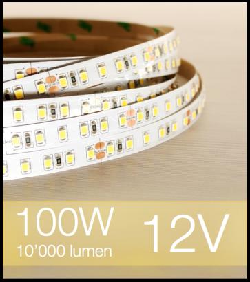 "SUPER OFFERTA: Striscia LED 2835 ""ECO"" - 5 Metri - 100W - SMD2835 BIANCO CALDO 120 LED/m"