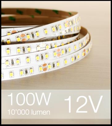 "Striscia LED 2835 ""ECO"" - 5 Metri - 100W - SMD2835 BIANCO NATURALE 120 LED/m"
