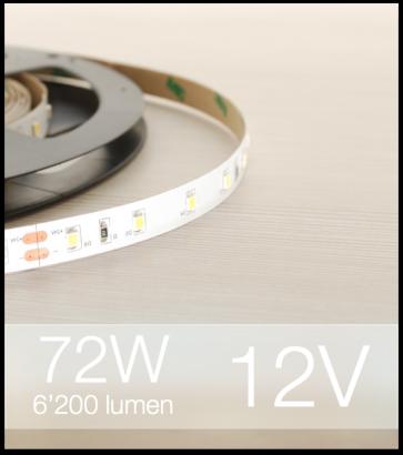 "Striscia LED 2835 ""ECO"" - 5 Metri - 72W - SMD2835 BIANCO NATURALE 60 LED/m"