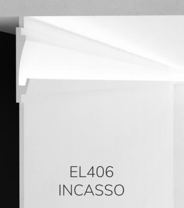Cornice per LED da Incasso ELENI LIGHTING EL406 - Profilo Lineare Unidirezionale con Luce Morbida per Parete