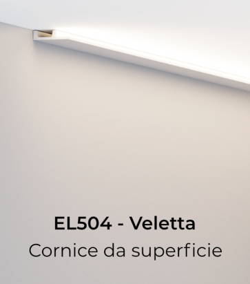 Cornice per LED ELENI LIGHTING EL504 - Vela Piana per Parete o Soffitto