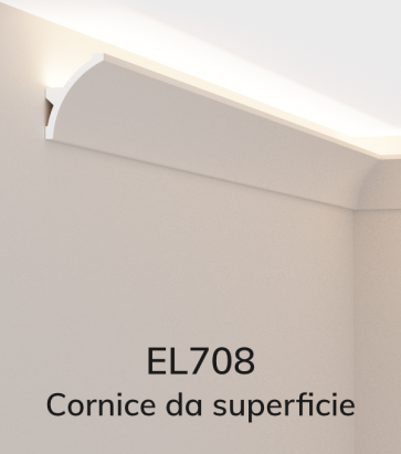 Cornice per LED ELENI LIGHTING EL708 - Vela Concava per Parete