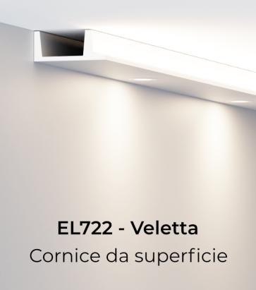 Cornice per LED ELENI LIGHTING EL722 - Veletta Squadrata per Parete o Soffitto