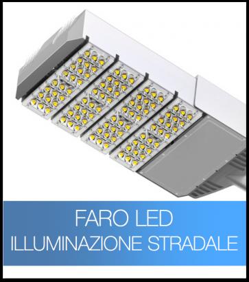 Lampione a LED - professionale - 120W con 120 LED Bridgelux - Illuminazione Stradale - Bianco Naturale 4000K
