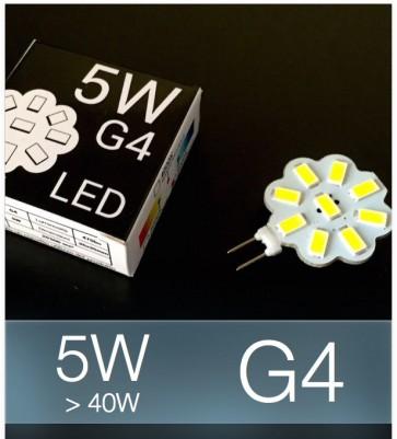 Lampadina LED G4 5W (40W) SMD 5630 - Bianco Freddo