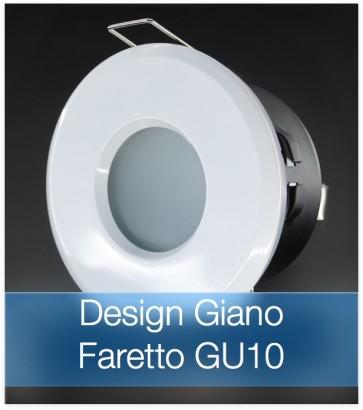 Corpo Faretto Bianco con Faretto LED GU10 5W - Design GIANO