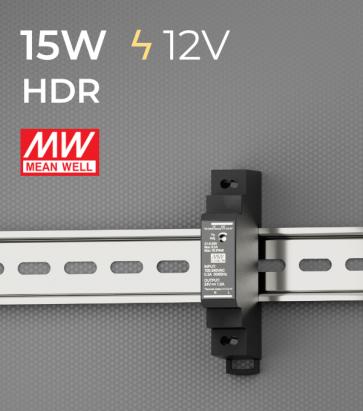Alimentatore Meanwell HDR-15-12  - 15W - Barra DIN