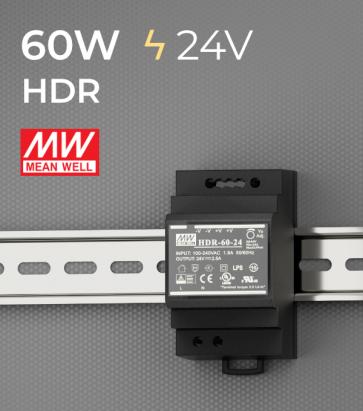Alimentatore Meanwell HDR-60-24 - 60W - Barra DIN