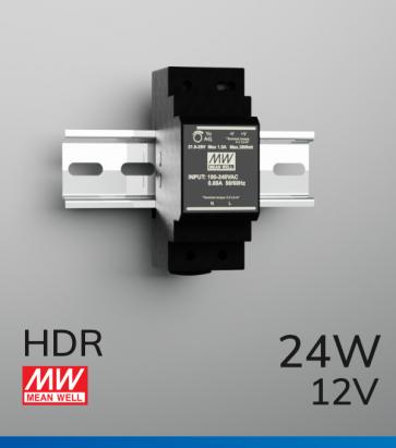 Alimentatore Meanwell HDR-30-12 - 24W - Barra DIN