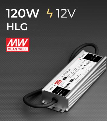 Alimentatore Meanwell HLG-120H-12 12V 120W  Resistente all'acqua - Versione Standard, A e B