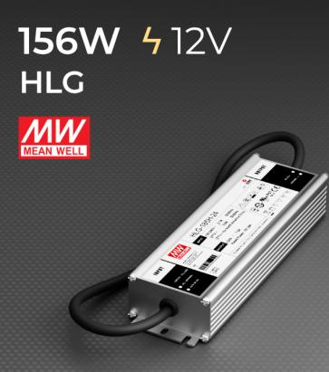 Alimentatore Meanwell HLG-185H-12 12V 156W  Resistente all'acqua - Versione Standard, A e B