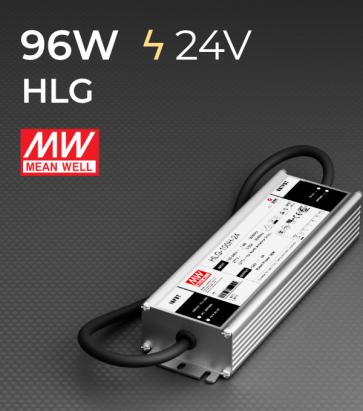 Alimentatore Meanwell HLG-100H-24 24V 96W  Resistente all'acqua - Versione Standard, A e B