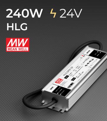 Alimentatore Meanwell HLG-240H-24 24V 240W  Resistente all'acqua - Versione Standard, A e B