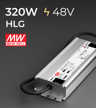 Alimentatore Meanwell HLG-320H-48 48V 320W  Resistente all'acqua - Versione Standard, A e B
