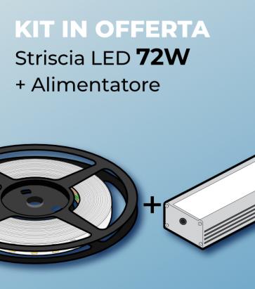 Kit Striscia LED ECO 2835 60led/m 72W + Alimentatore