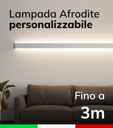 Lampada LED da parete Afrodite - Doppia Emissione di Luce - Da 250cm a 300cm - Personalizzabile - Dimmerabile