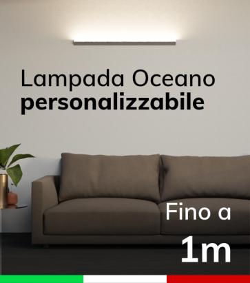 Lampada LED da parete Oceano - Fino a 100cm - Personalizzabile - Dimmerabile