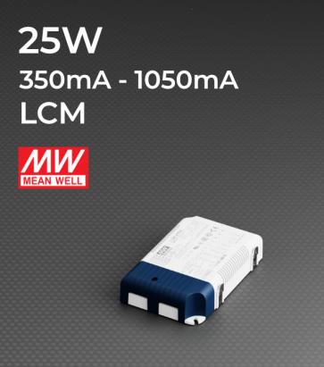 Alimentatore Meanwell LCM-25 - 25W - Corrente in uscita selezionabile