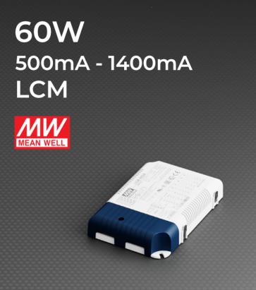 Alimentatore Meanwell LCM-60 - 60W - Corrente in uscita selezionabile