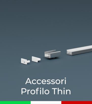Accessori per Profili in Alluminio Piatto modello Thin