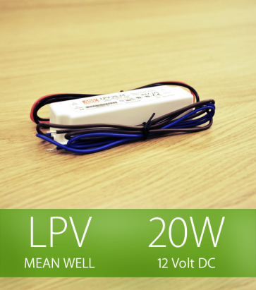 Alimentatore Meanwell LPV-20-12 12V 20W  Resistente all'acqua