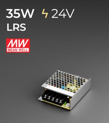 Alimentatore MeanWell LRS-35-24 24V - 35W