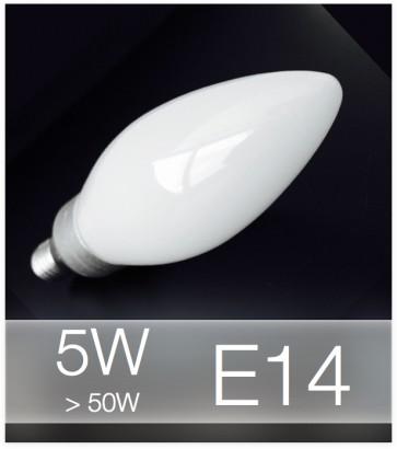 Lampadina LED E14 4W(50W) Vetro MILK - Bianco NATURALE