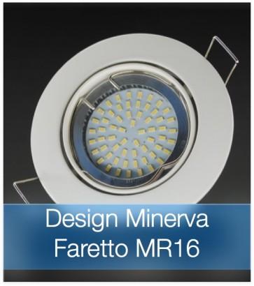 Corpo Faretto Bianco con Faretto MR16 7.5W - Design MINERVA