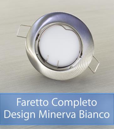 Faretto completo Satinato con PCB 11W - Design MINERVA - Dimmerabile - Made In Italy
