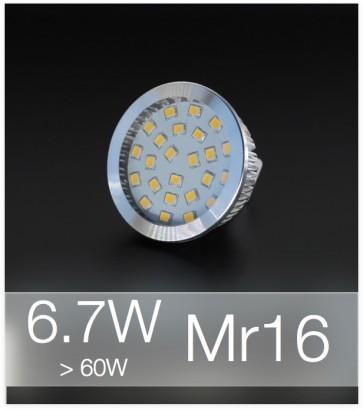 Faretto LED MR16 6.7W (60W) - Bianco NATURALE