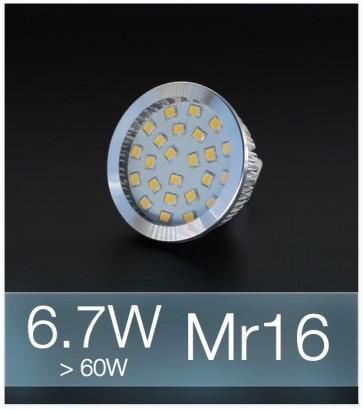 Faretto LED MR16 6.7W (60W) - Bianco FREDDO