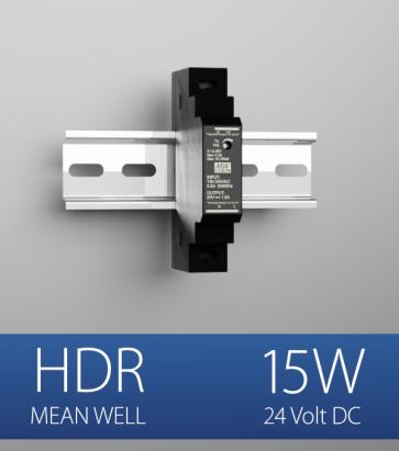Alimentatore Meanwell HDR-15-24  - 15W - Barra DIN