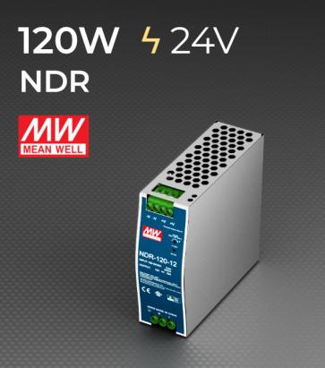 Alimentatore Meanwell NDR120-24 Industriale Output Singolo - 120W - Barra DIN