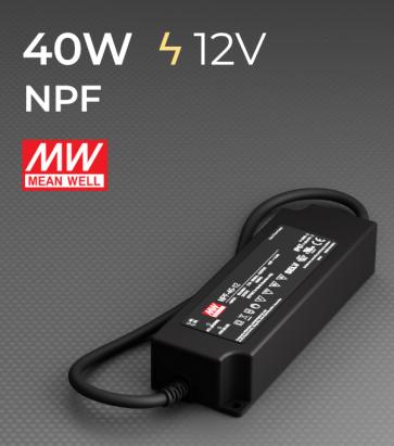 Alimentatore Meanwell NPF-40-12  - 12V - 40W