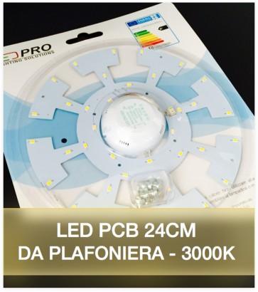 LED per Plafoniera - 24 cm - 18W Colore Bianco Caldo