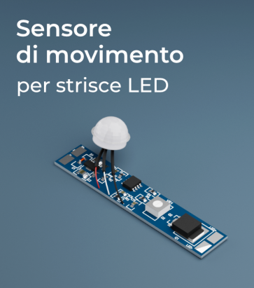 Sensore di Movimento ad Infrarossi (PIR) da Profilo per Strisce LED