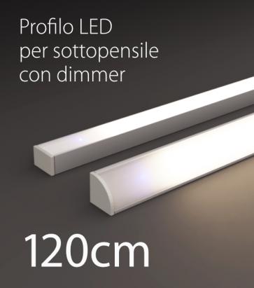 Profilo LED Completo per Sottopensile con Dimmer Touch - Personalizzabile - 120cm