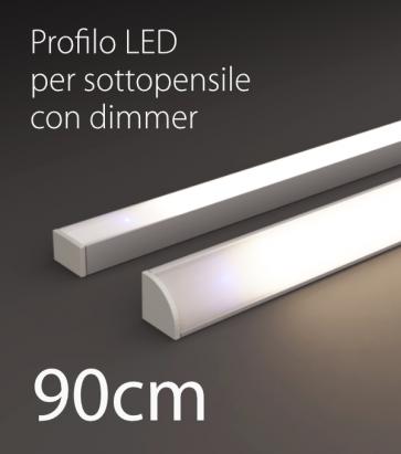 Profilo LED Completo per Sottopensile con Dimmer Touch - Personalizzabile - 90cm