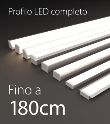 Profilo LED Completo per Illuminazione Dimmerabile - da 150cm a 180cm - Personalizzabile