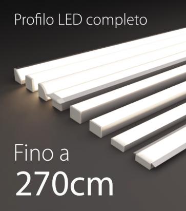 Profilo LED Completo per Illuminazione Dimmerabile - da 250cm a 270cm - Personalizzabile
